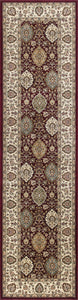 Kas Rugs Kingston 6405 Ruby/Ivory Rania Area Rug