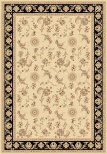 Dynamic Rugs Legacy Ivory/Black Classic Rectangle Area Rug