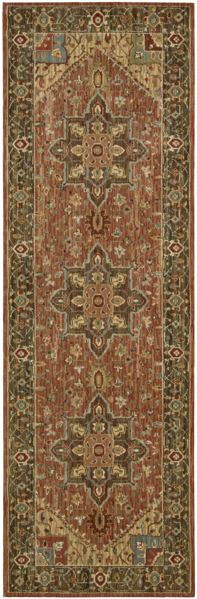 Nourison Living Treasures Rust Area Rug LI01 RUS