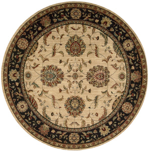 Nourison Living Treasures Ivory Black Area Rug LI04 IBK