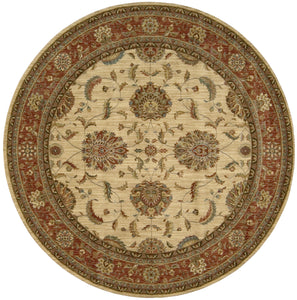 Nourison Living Treasures Ivory Red Area Rug LI04 IRD