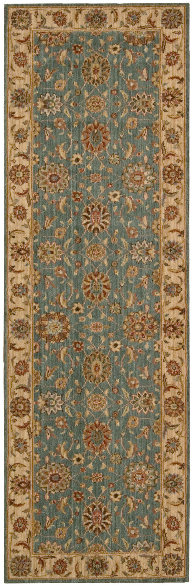 Nourison Living Treasures Aqua Area Rug LI05 AQU