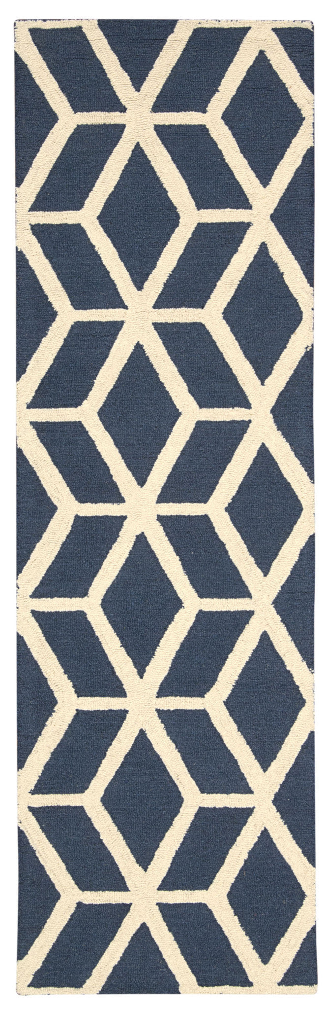 Nourison Linear Blue Ivory Area Rug LIN01 BLUIV