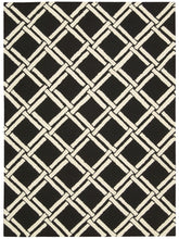Load image into Gallery viewer, Nourison Linear Black White Area Rug LIN04 BKW