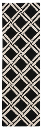 Nourison Linear Black White Area Rug LIN04 BKW