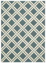 Load image into Gallery viewer, Nourison Linear Teal Ivory Area Rug LIN04 TLIV
