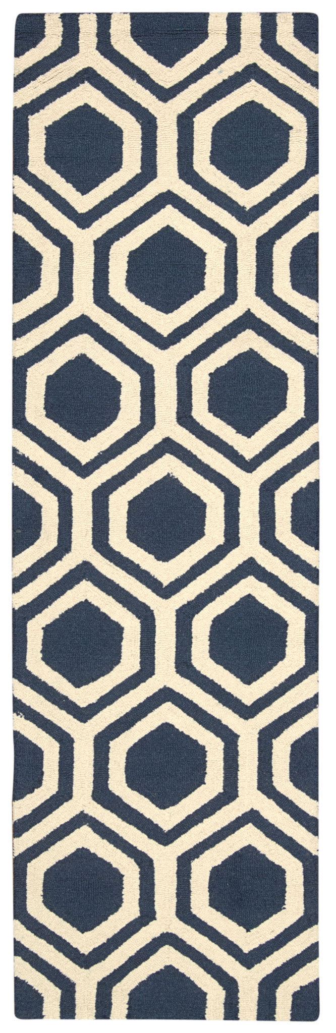 Nourison Linear Blue Ivory Area Rug LIN07 BLUIV