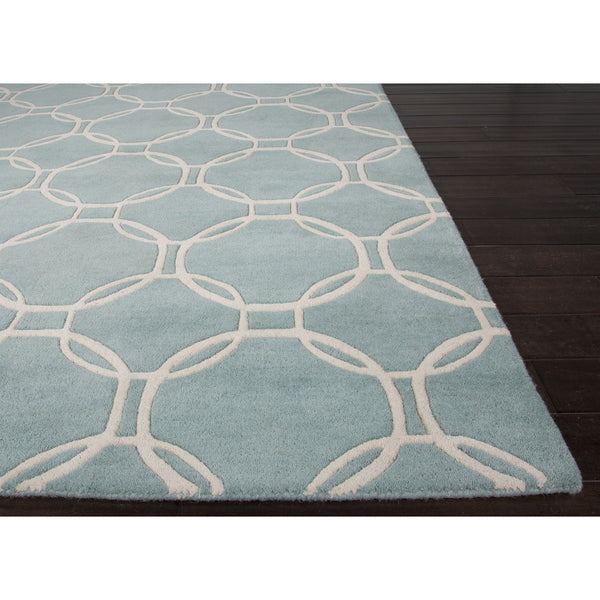 Jaipur Rugs Modern Geometric Pattern Blue Ivory Wool Area