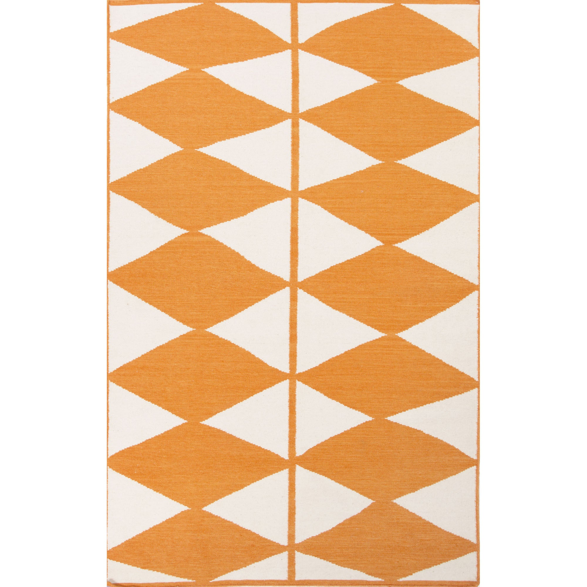 Jaipur Rugs FlatWeave Geometric Pattern Orange/Ivory Wool Area Rug LSF u2013 RugMethod