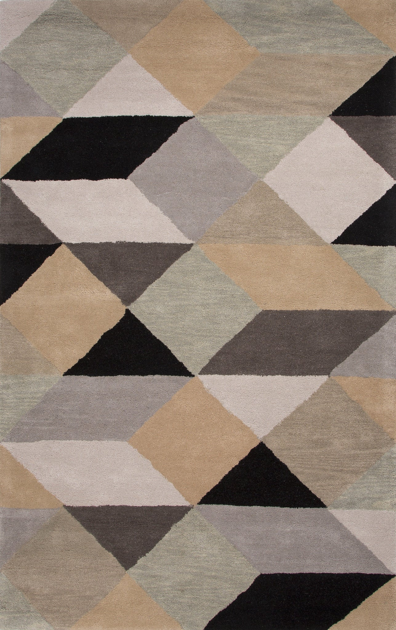 Jaipur Rugs Modern Geometric Pattern Gray Yellow Wool Area