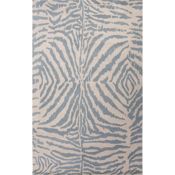 Jaipur Rugs Modern Animal Print Pattern Blue Ivory Wool