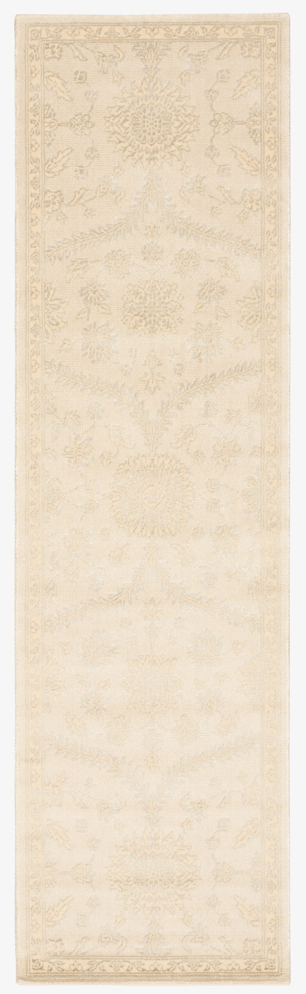Nourison Luminance Cream Mint Area Rug LUM04 CRMNT
