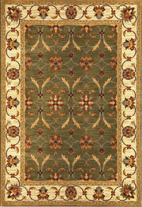Kas Rugs Lifestyles 5470 Green/Ivory Agra Area Rug