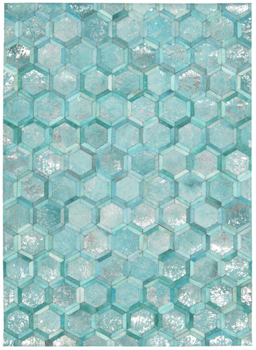 Michael Amini City Chic Turquoise Area Rug By Nourison MA100 TURQU