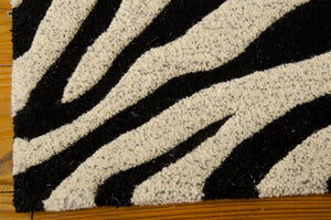 Michael Amini Zambiana Black White Area Rug By Nourison MA401 BKW (Rectangle)