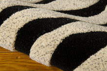 Load image into Gallery viewer, Michael Amini Zambiana Black White Area Rug By Nourison MA401 BKW