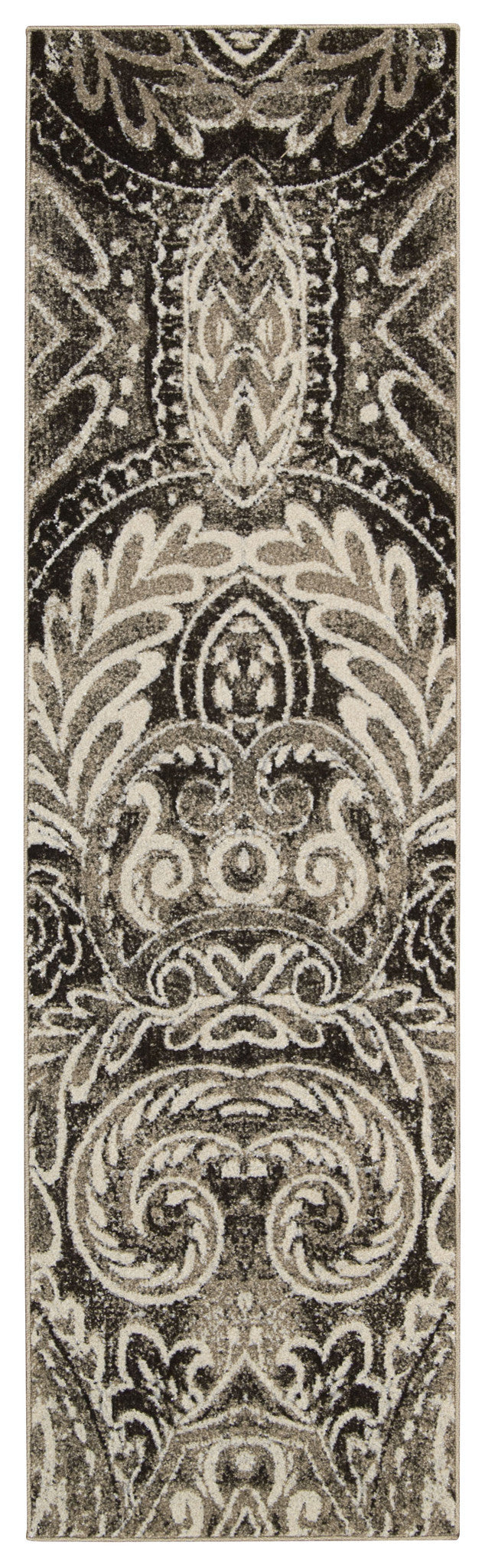 Michael Amini Glistening Nights Light Grey Area Rug By Nourison MA501 LGY