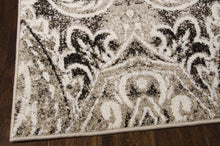 Load image into Gallery viewer, Michael Amini Glistening Nights Light Grey Area Rug By Nourison MA501 LGY (Runner)
