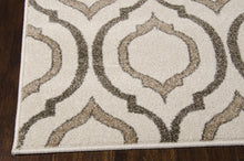 Load image into Gallery viewer, Michael Amini Glistening Nights Beige Area Rug By Nourison MA508 BGE (Runner)