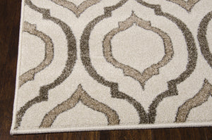 Michael Amini Glistening Nights Beige Area Rug By Nourison MA508 BGE (Runner)