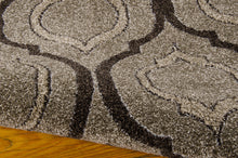 Load image into Gallery viewer, Michael Amini Glistening Nights Grey Area Rug By Nourison MA508 GRY