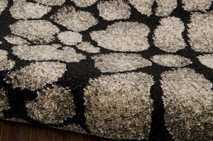 Michael Amini Glistening Nights Black Area Rug By Nourison MA509 BLK (Runner)