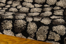 Load image into Gallery viewer, Michael Amini Glistening Nights Black Area Rug By Nourison MA509 BLK