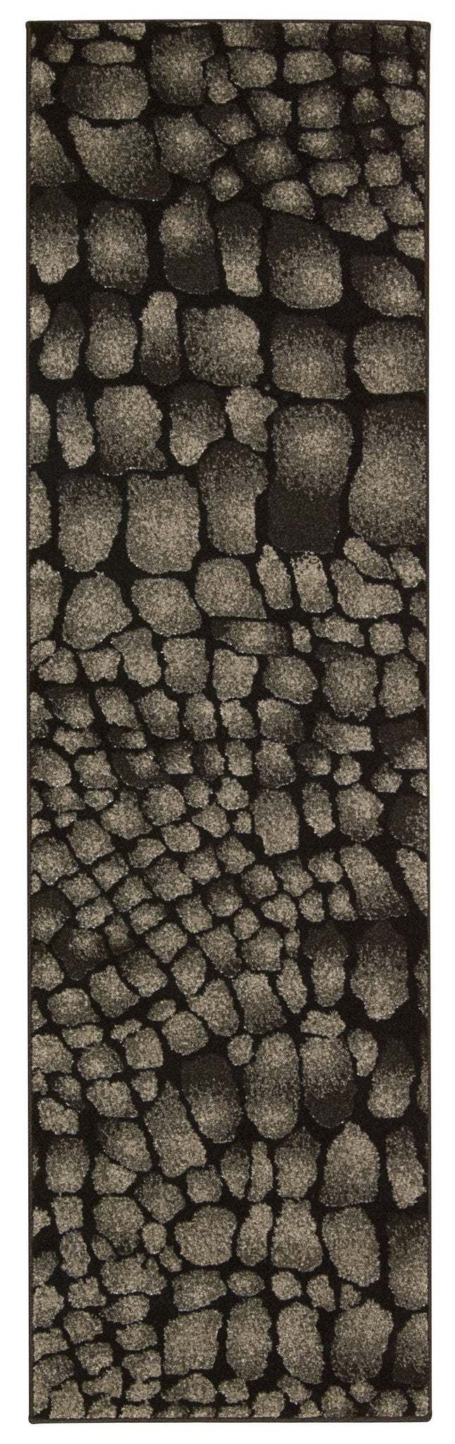 Michael Amini Glistening Nights Black Area Rug By Nourison MA509 BLK