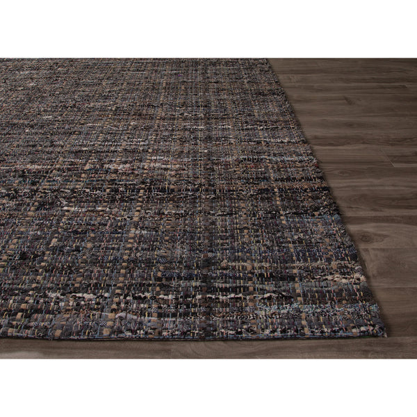 Jaipur Rugs Flatweave Texture Pattern Black Gray Cotton