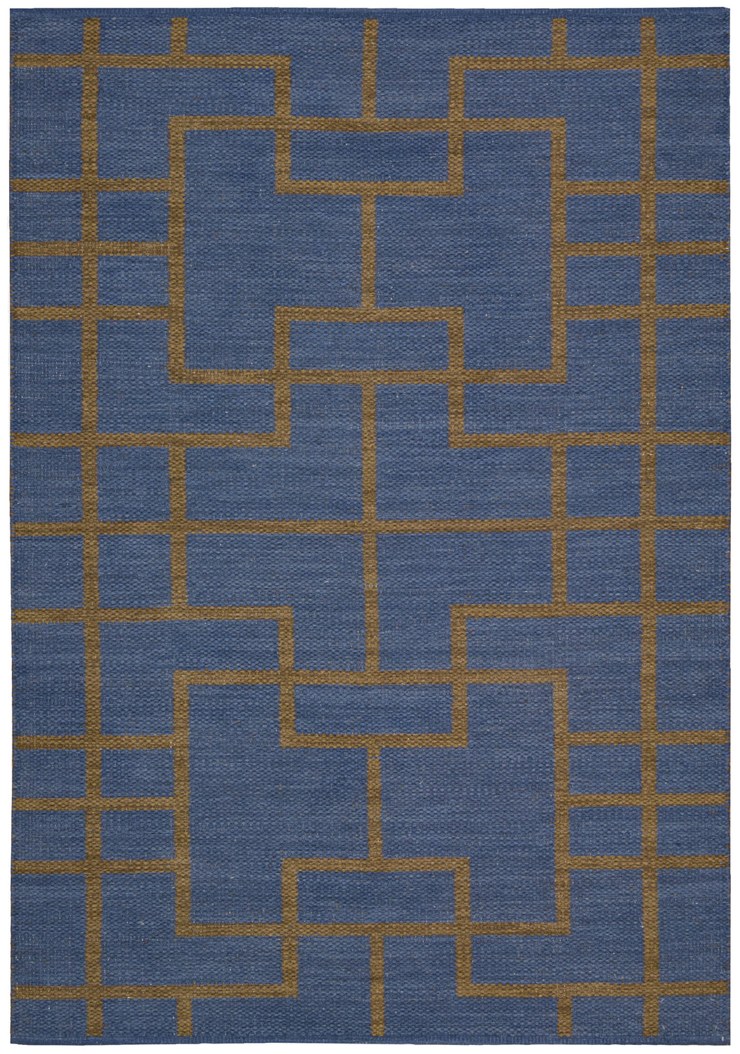 Barclay Butera Maze Ocean Area Rug By Nourison MAZ02 OCEAN (Rectangle) | BOGO USA