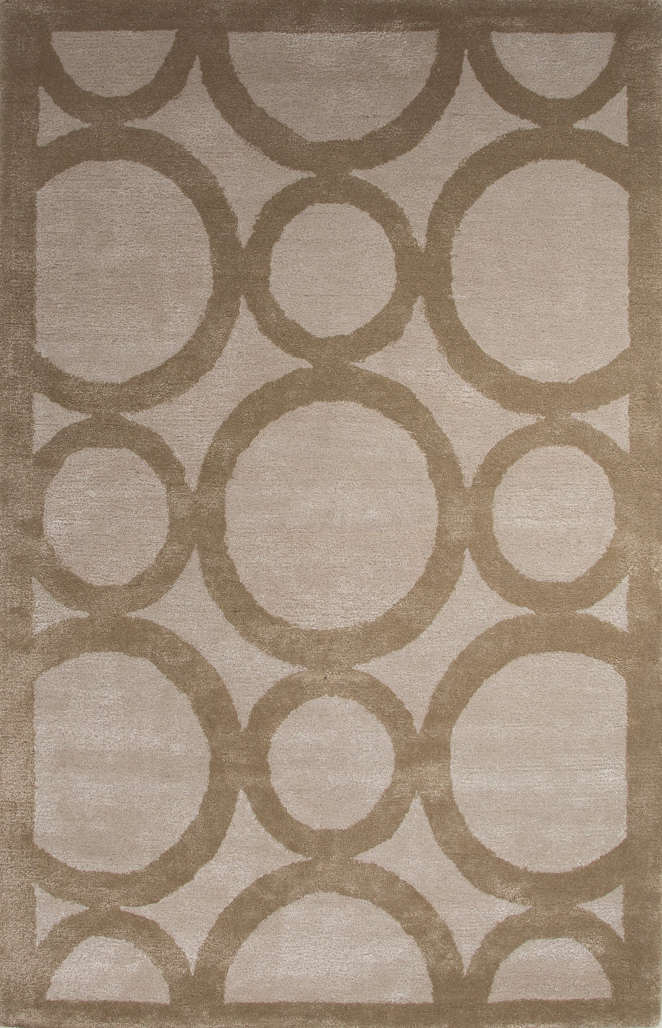 Jaipur rugs modern geometric pattern tan ivory wool and for Contemporary wool area rugs