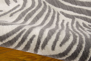 Barclay Butera Madagascar Graphite Area Rug By Nourison MDG01 GRAPH (Rectangle) | BOGO USA