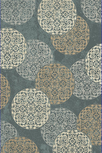 Dynamic Rugs Melody Blue Medallion/Damask Rectangle Area Rug