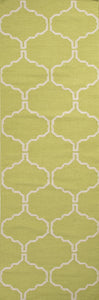 Jaipur Rugs Flat-Weave Geometric Pattern Green/Ivory Wool Area Rug