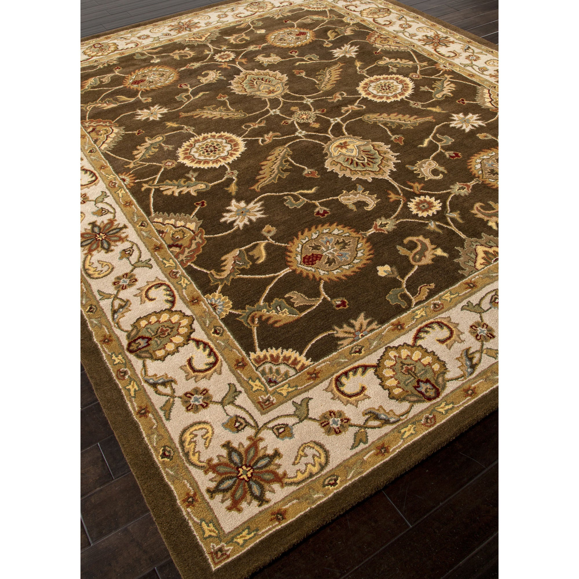 Jaipur Rugs Classic Oriental Pattern Brown Ivory Wool Area