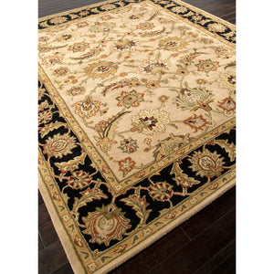 Jaipur Rugs Classic Oriental Pattern Taupe/Black Wool Area Rug MY02 (Rectangle)