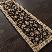 Load image into Gallery viewer, Jaipur Rugs Classic Oriental Pattern Black/Taupe Wool Area Rug MY03 (Runner)