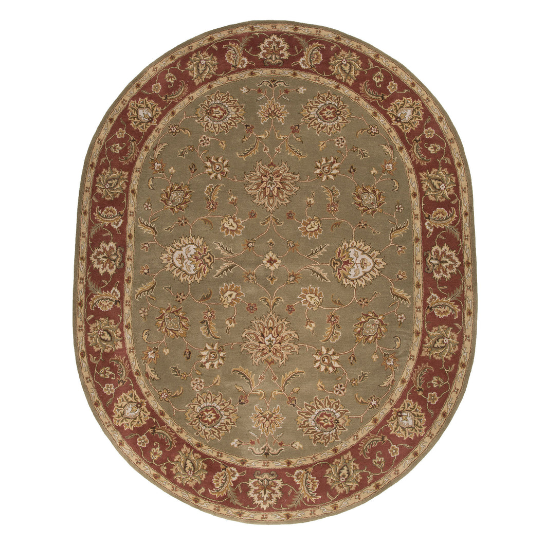 Jaipur Rugs Classic Oriental Pattern Green/Red Wool Area Rug
