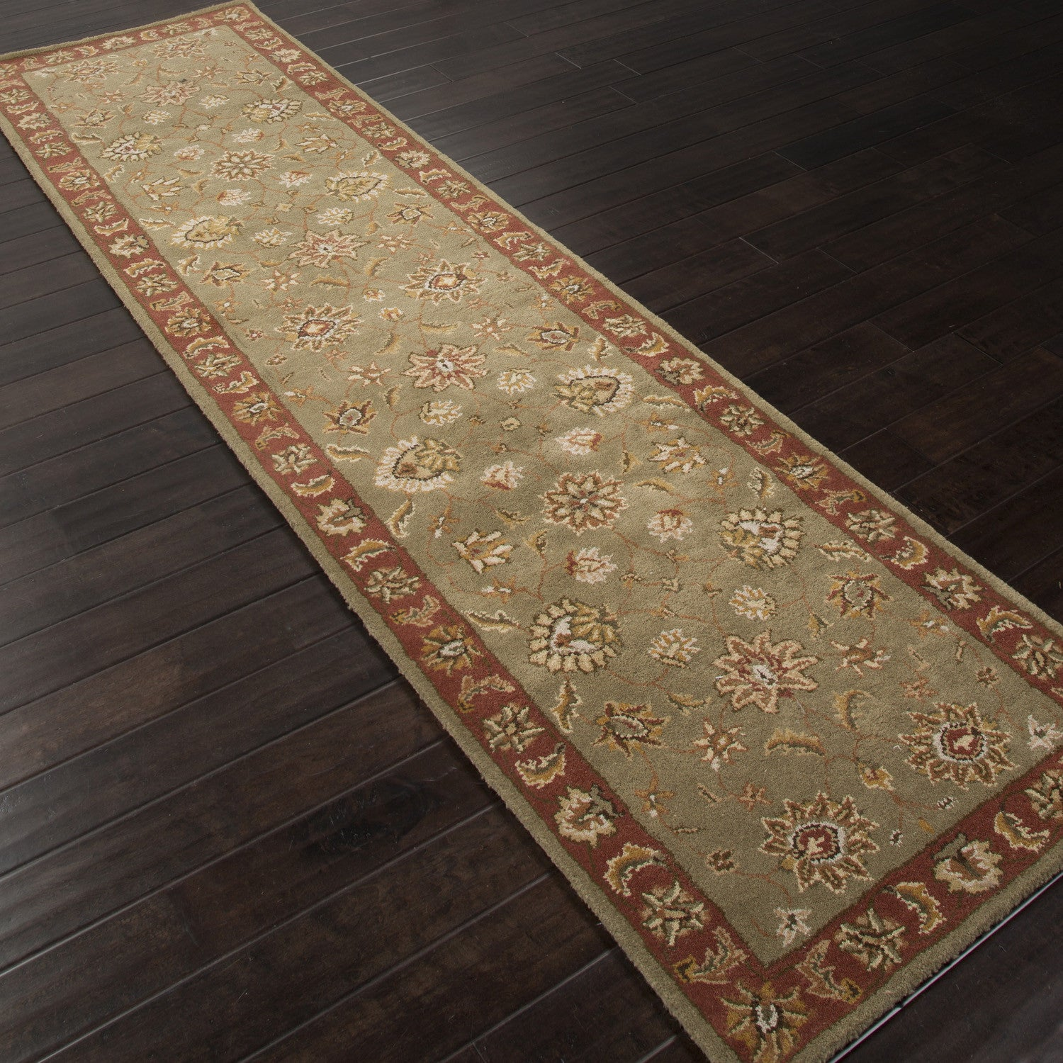 Jaipur Rugs Classic Oriental Pattern Green/Red Wool Area