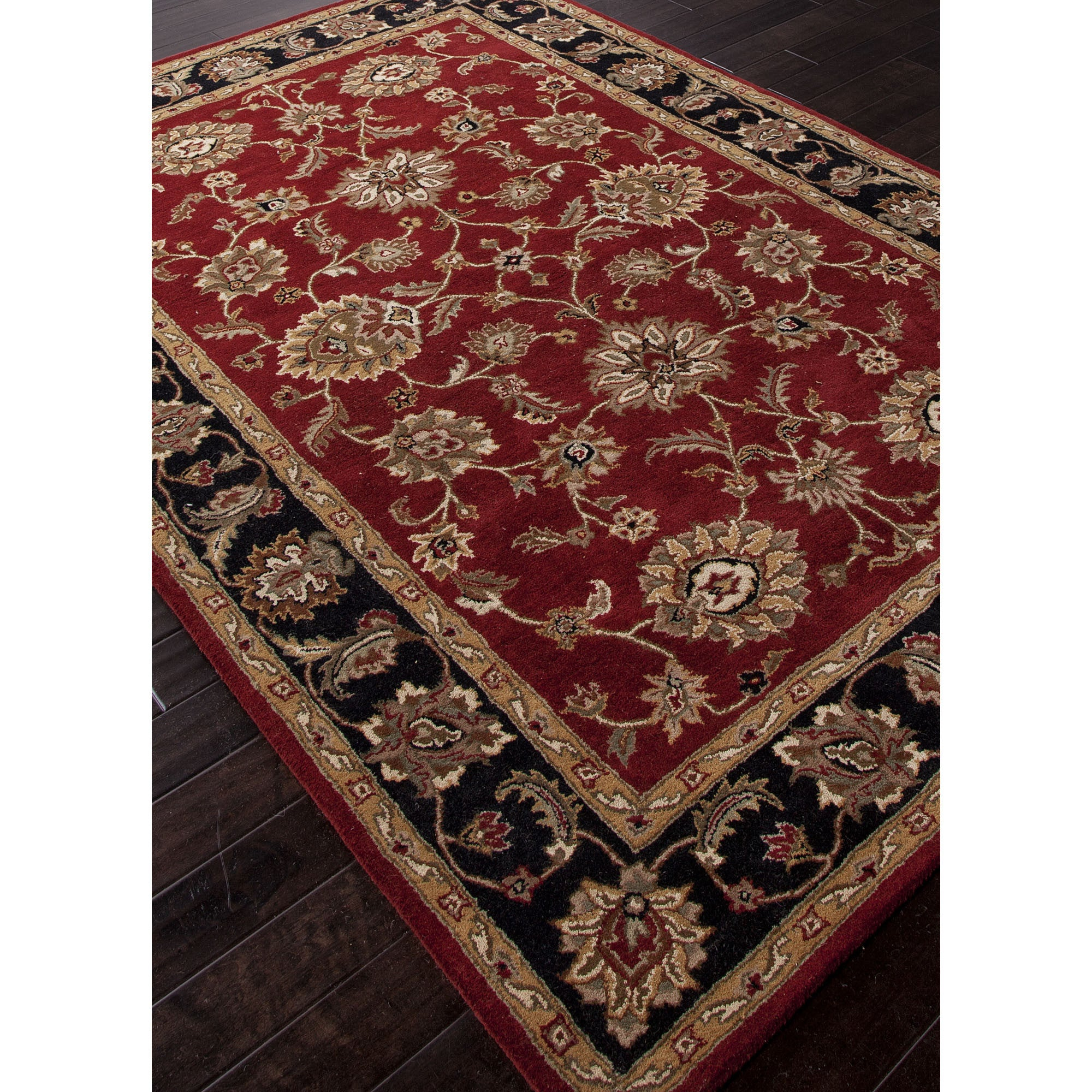 Jaipur Rugs Classic Oriental Pattern Red Black Wool Area