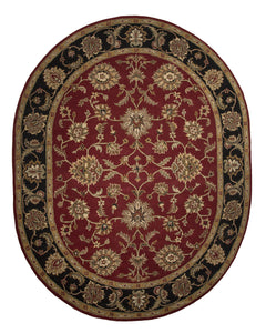 Jaipur Rugs Classic Oriental Pattern Red/Black Wool Area Rug