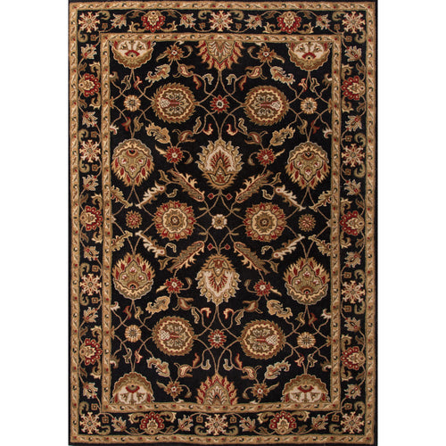 Jaipur Rugs Classic Oriental Pattern Black/Red Wool Area Rug