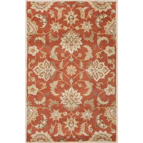 Jaipur Rugs Transitional Oriental Pattern Red/Gray Wool Area Rug
