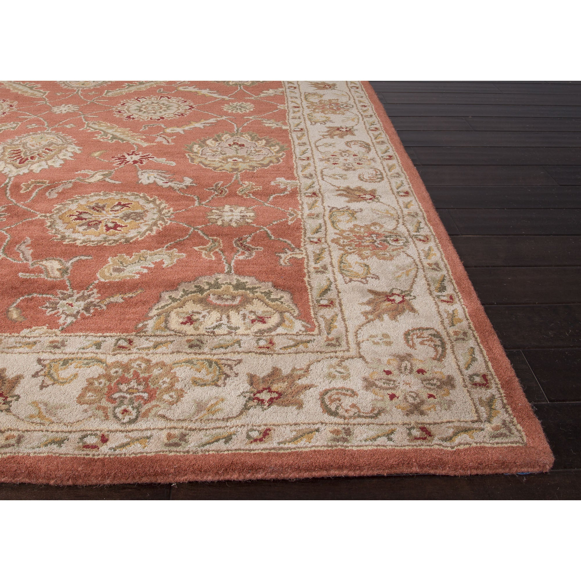 Jaipur Rugs Transitional Oriental Pattern Red Gray Wool