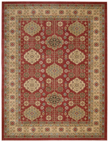 Nourison Maymana Red Area Rug MYN08 RED