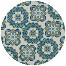 Load image into Gallery viewer, Kas Rugs Marbella 3506 Ivory/Blue Courtyard Area Rug