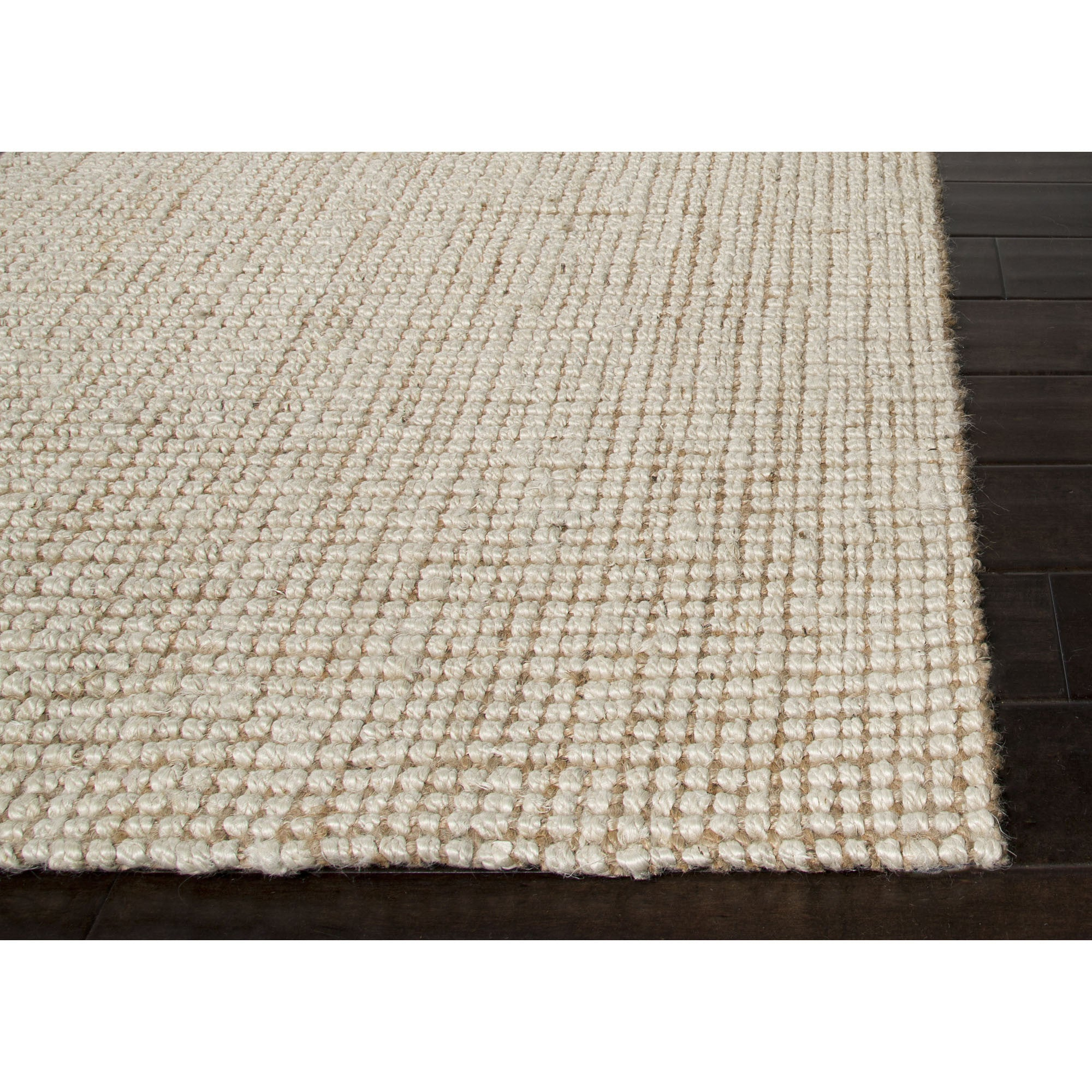 Dog Urine Jute Rug: Jaipur Rugs Naturals Solid Pattern Ivory/White Jute Area
