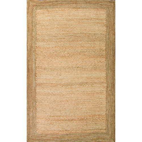Jaipur Rugs Naturals Solid Pattern Ivory/White Jute Area Rug
