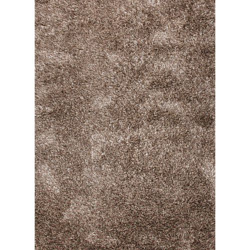 Jaipur Rugs Shag Solid Pattern Ivory/Taupe Wool and Polyester Area Rug