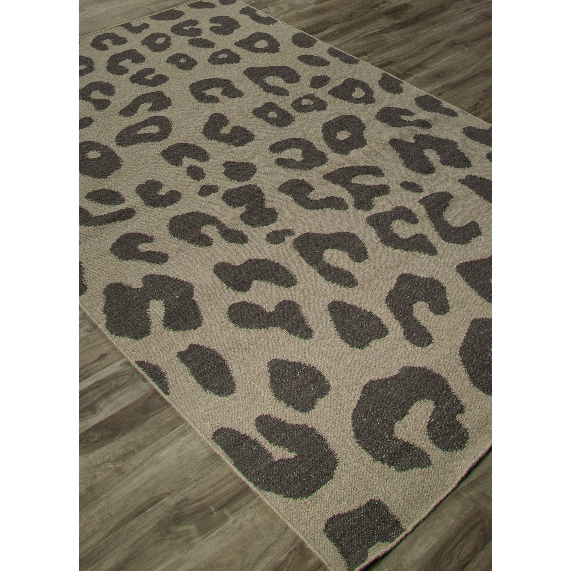 Jaipur Rugs FlatWeave Animal Print Pattern Dark Gray Wool